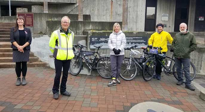 Cross-country cyclists welcomed by St. John's deputy mayor