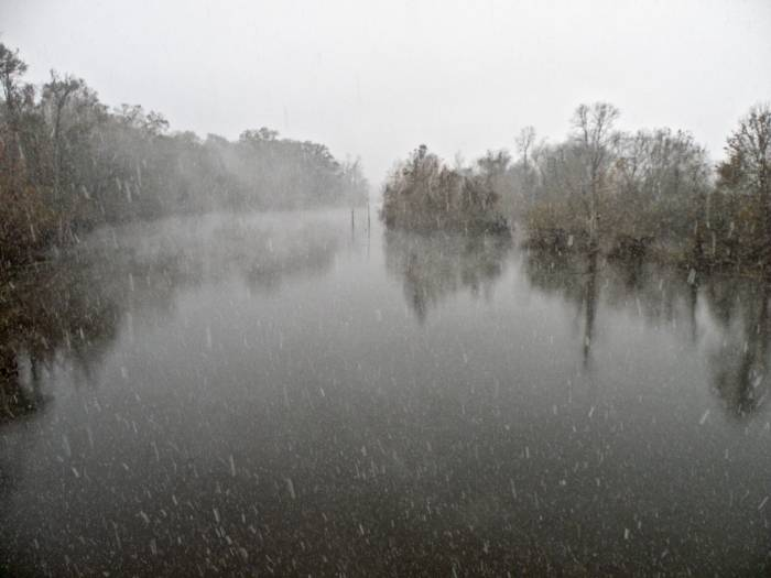 A snowstorm in Louisiana!